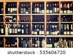 assortment of wine bottle on... | Shutterstock . vector #535606720