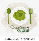 lettuce vegetarian cuisine... | Shutterstock .eps vector #535608598