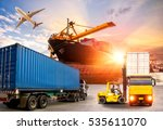 logistics and transportation of ... | Shutterstock . vector #535611070