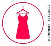 sundress  evening dress ... | Shutterstock .eps vector #535615378