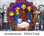 fantastic big family | Shutterstock . vector #535617166
