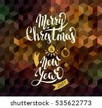 merry christmas and happy new... | Shutterstock .eps vector #535622773