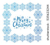 snowflake frame for your design | Shutterstock .eps vector #535623244