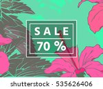 sale up to 70 per cent off. web ... | Shutterstock . vector #535626406