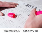 Small photo of Analysis of a calendar and allocation of date