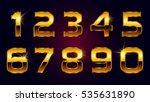 vector golden numbers. set of... | Shutterstock .eps vector #535631890