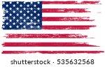 grunge american flag.vector... | Shutterstock .eps vector #535632568