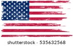 Grunge American Flag.vector...