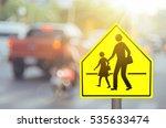 School Zone Warning Sign On...