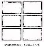 set of grunge frames.distress... | Shutterstock .eps vector #535634776