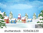 winter landscape. christmas... | Shutterstock .eps vector #535636120