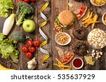 fit or fat | Shutterstock . vector #535637929