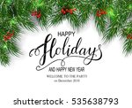 holidays greeting card for... | Shutterstock .eps vector #535638793