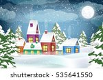 winter landscape. christmas... | Shutterstock . vector #535641550