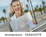 in barcelona for a perfect... | Shutterstock . vector #535641979