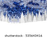 winter landscape with forest... | Shutterstock .eps vector #535643416