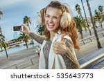 in barcelona for a perfect... | Shutterstock . vector #535643773