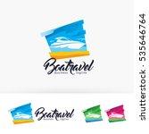 boat travel  vector logo... | Shutterstock .eps vector #535646764