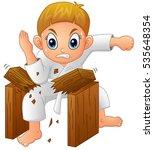 vector illustration of cartoon... | Shutterstock .eps vector #535648354
