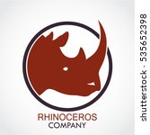 color rhinoceros head circle... | Shutterstock .eps vector #535652398