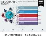 colored  diagram success... | Shutterstock .eps vector #535656718