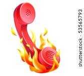 vector illustration of hot line ...   Shutterstock .eps vector #53565793