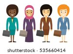 businesswoman characters of... | Shutterstock .eps vector #535660414