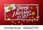 vector 2017 happy new year... | Shutterstock .eps vector #535662793