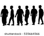 silhouettes of a little girl... | Shutterstock .eps vector #535664566