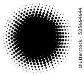 grunge halftone vector... | Shutterstock .eps vector #535664644