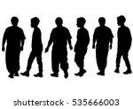 silhouettes of a little girl... | Shutterstock . vector #535666003