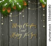 holiday lettering merry... | Shutterstock .eps vector #535668580