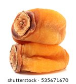 dried persimmon on white... | Shutterstock . vector #535671670