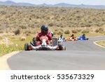 adult go kart racers on track.  ... | Shutterstock . vector #535673329