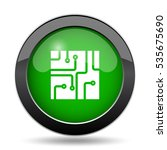 circuit board icon  green... | Shutterstock . vector #535675690