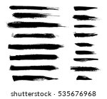 brush strokes. ink painting.... | Shutterstock .eps vector #535676968