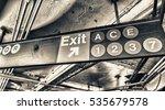 Exit And Lines Signs In New...
