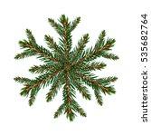 christmas tree snowflake... | Shutterstock . vector #535682764