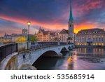 zurich. cityscape image of...   Shutterstock . vector #535685914