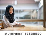 muslim girl student in the... | Shutterstock . vector #535688830