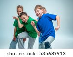 the kids dance school  ballet ... | Shutterstock . vector #535689913