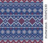 christmas knitting seamless... | Shutterstock .eps vector #535692130
