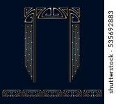 vector art deco golden frame...   Shutterstock .eps vector #535692883