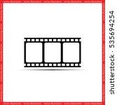 film reel icon vector... | Shutterstock .eps vector #535694254