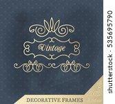 vector calligraphic design... | Shutterstock .eps vector #535695790