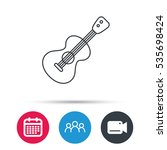 guitar icon. musical instrument ... | Shutterstock .eps vector #535698424