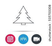 christmas tree icon. forest or... | Shutterstock .eps vector #535703308