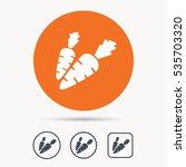 carrot icon. fresh natural... | Shutterstock .eps vector #535703320