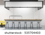 front view of bar stand with... | Shutterstock . vector #535704403