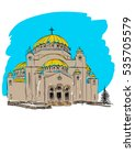 orthodox church building.... | Shutterstock . vector #535705579